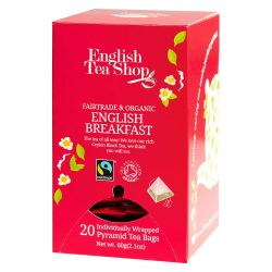 English Tea Shop - English Breakfast, BIO Fairtrade, 20 Pyramiden-Beutel, einzeln kuvertiert