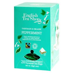 English Tea Shop - Pfefferminze, BIO Fairtrade, 20 Pyramiden-Beutel, einzeln kuvertiert
