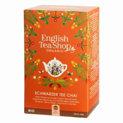 English Tea Shop - Schwarzer Tee Chai, BIO, 20 Teebeutel
