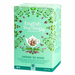 English Tea Shop - Grüner Tee Minze, BIO, 20 Teebeutel