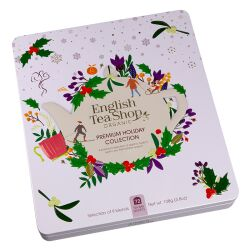 English Tea Shop - Wintertee-Kollektion in edler Metalldose Premium Holiday Collection Weiß, BIO, 72 Teebeutel (9x8)