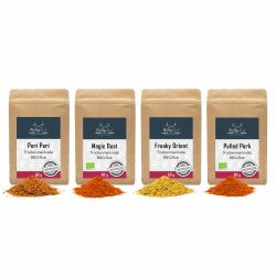 Pfefferdieb - BBQ-Rubs Probierset 4x 60g (Freaky Orient, Magic Dust, Peri Peri, Pulled Pork)