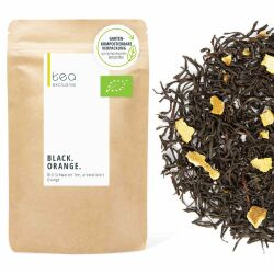 Black Orange, Schwarzer Tee BIO, 125g Beutel