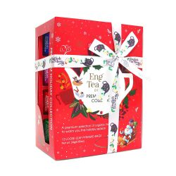 English Tea Shop - Teegeschenk mit Schleife Holiday Collection, Rot, BIO, 12 Pyramiden-Beutel (Organic Box)