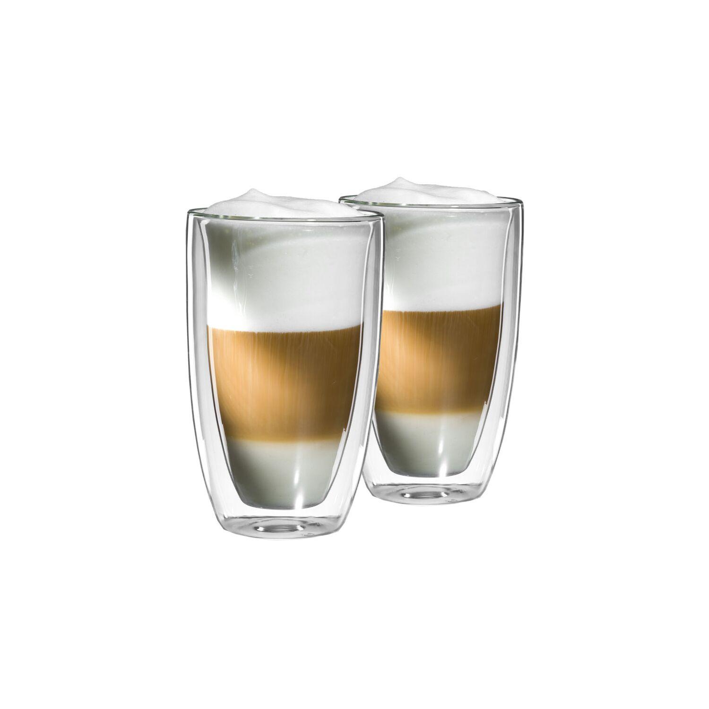 2er set xl latte macchiato glas mit schwebeeffekt gew lbt. Black Bedroom Furniture Sets. Home Design Ideas